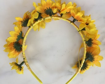 Sunflower Crown Headband