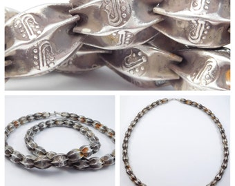 Unique Old Chinese Silver Beads Necklace
