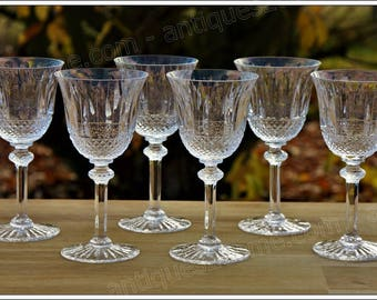 St Louis Tommy 6 Burgundy wine glasses set