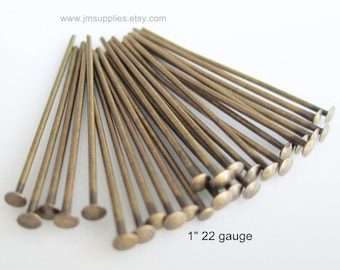 BULK Headpin,  Antiqued Gold 1 Inch, 22 Gauge (500)
