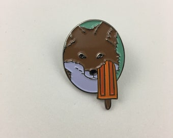 Summer Fox Enamel Pin - Kickstarter Four Seasons of Fox Pins