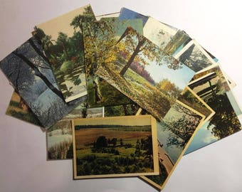 LOT Postcards 42 Pcs Russia Vintage Landscape Nature Of Seasons
