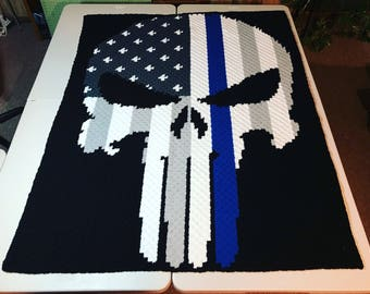 Crocheted Skull Flag