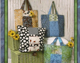 Six Pack Stack Reversible Fat Quarter Tote Pattern