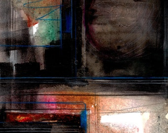 Abstract Stories ... No.7 ... Original colorful mixed media art painting by Kathy Morton Stanion EBSQ