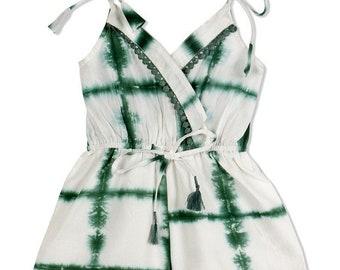 CHANDAMAMA  Deeba Green Jumpsuit