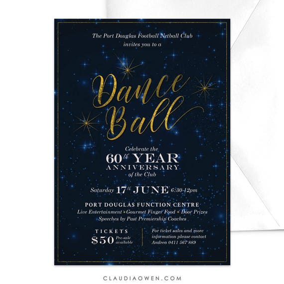 Dance ball invitation professional anniversary dinner work stopboris Image collections