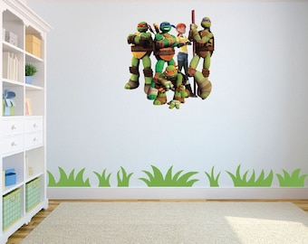Teenage Mutant Heroes Wall Art Sticker/Decal Children's room w58 cm x h63 cm