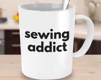 Crafty Coffee Mug Sewing Addict Sewing Gift Idea Coworker Gift Sewing Mug Gifts for Her Gifts under 25 Sewing Gift