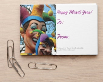 Jester Tags -  Mardi Gras Gift Tags - Jester Gift Wrap Tags - New Orleans Gift Tags - theRDBcollection