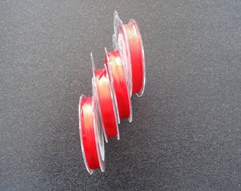 Roll of Ribbon - satin - Red - 10 mm * 10 M - for your decorations