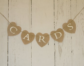 Cards Burlap Banner Wedding Cards  Bunting  Wedding Cards Sign Shower Cards Banner Wedding Reception Banner