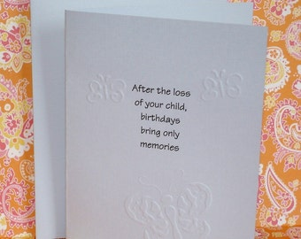 Loss of Child Birthday Memory Card