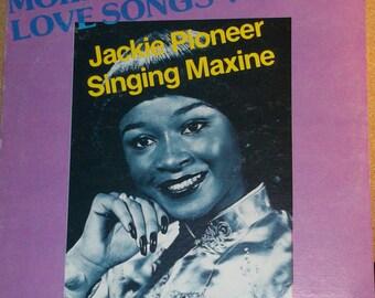Jackie Pioneer Singing Maxine More Reggae Love Songs Vinyl Record Album
