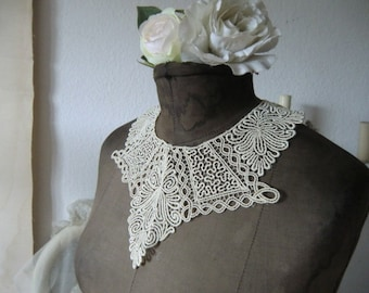 Vintage French lace collar antique shabby