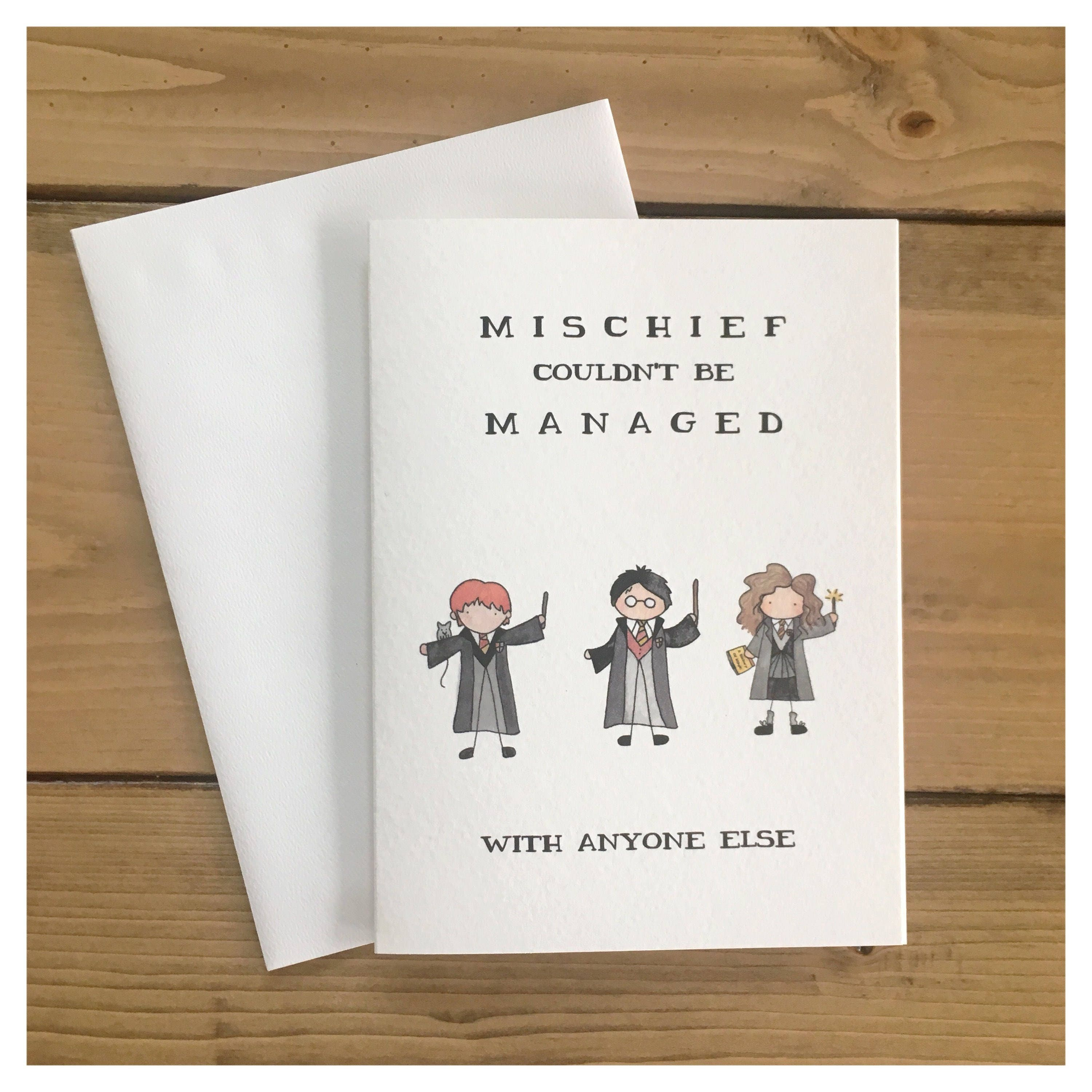 Mischief managed card harry potter card harry potter mischief mischief managed card harry potter card harry potter mischief managed greeting cards harry potter birthday harry potter gift hp m4hsunfo Gallery