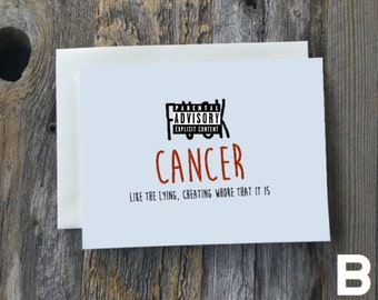 F*ck Cancer cards (style B)