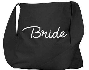 Bride Black Organic Cotton Slouch Bag