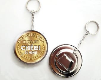 Keychain bottle opener - 56mm - honey