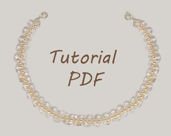 Beaded Necklace Pattern Beading Tutorial Jewelry Tutorial PDF Pattern Beading Pattern Seed Bead Pattern Peyote Pattern Bead Necklace Beading