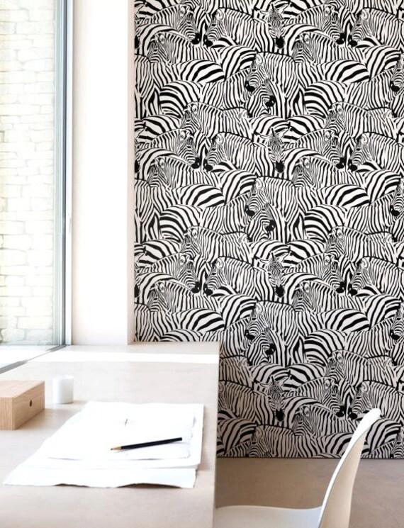 zebra print wallpaper removable wallpaper selfadhesive