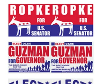 Political Yard Signs  poster yard signs