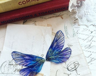 NEW pair of small  deep purple rainbow faerie wings