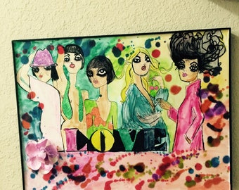 5th Avenue Chic Watercolor Love Ladies