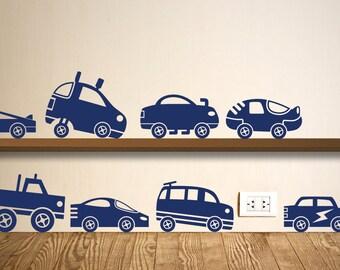 Car Wall Sticker Set