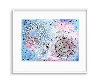 Constellation Art - Mandala Art - Celestial Art - Mandala Wall Art - Boho Wall Art - Mandala Art Print - Galaxy Art - Mandala Painting