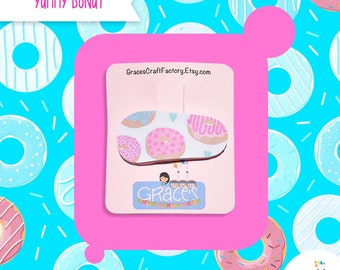 Donut Hair Clip, Leather Barrete, Girl Accesory