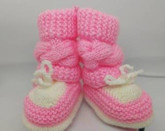 Pappucce pantofole scarpine bimba 6/12 mesi handmade