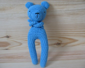adorable bear entirely hand made cotton yarn