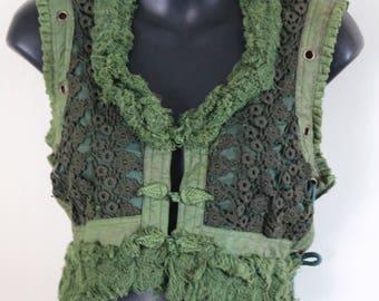 Crochet Vest - green