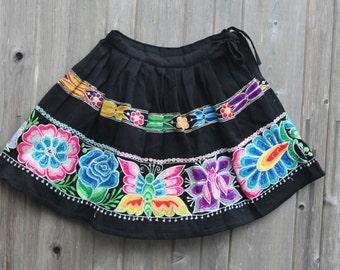 """Vintage Perivian Pollera - womens ethnic skirt - 26"""" waist"""