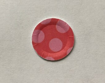 Miniature paper plate 5 - set of 20