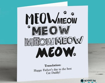 Fathers Day From The Cat Card - Happy Fathers Day To The Best Cat Daddy