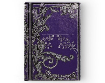 Hard Cover Journal Blue Thistles Original Design