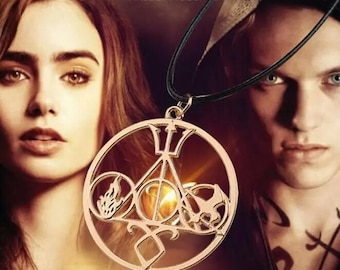 Pendant necklace 5 Sagas Harry Potter Hunger Games Shadowhunters Percy Jackson Divergent movie