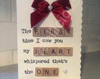 Scrabble Valentines Card