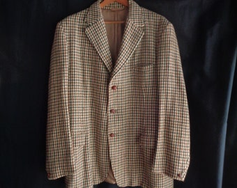 Vintage 1960's Harris tweed jacket handwoven for Dunn & Co