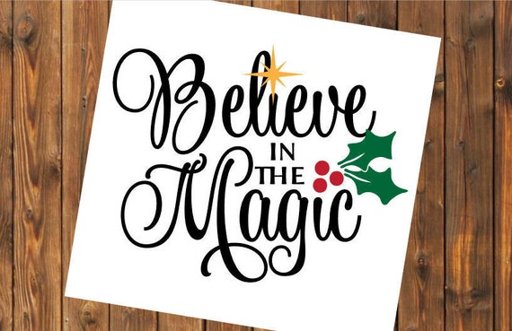 Free Shipping-Believe in the Magic, Christmas Decal Sticker, Christian, Manger, Nativity, Yeti RTIC SIC Tumbler Cup Decal