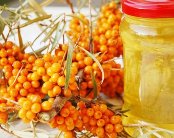 Siberian unrefined Sea buckthorn oil! From Altai Mountains! 0.22lb (100g) - 2.20lb (1000g). First cold pressing! Extra Virgin! Best quality!