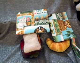 Reusable Sandwich N Snack Bag Set,  Furry Friends Print