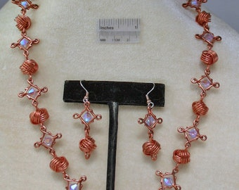 Danish Knot Necklace and Earrings