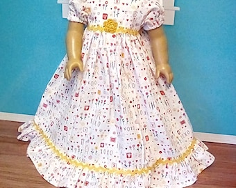 18 Inch Doll Clothes Hearts and Flowers Nightgown
