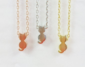 Cat Necklace, Sterling Silver • The Purrr-fect Tiny Gift for a Kid or Adult • Safe to Get Wet • Price is Not to be Missed • Cat Gift For Her