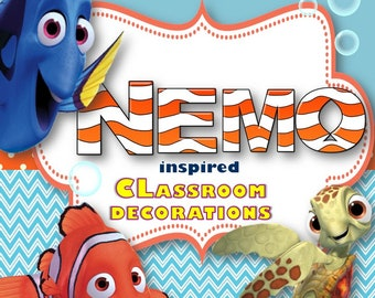 Finding Nemo and Dory Classroom Decoration Set-Editable!