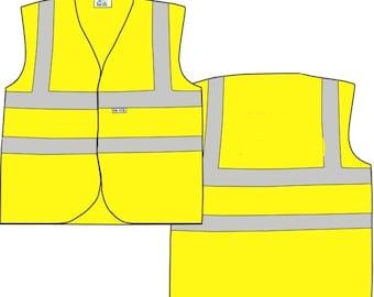 Child Yellow Vests Children Reflective Waistcoat Hi Visibility Child Sports Safety
