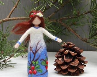 Needle felted Forest Fairy doll, Waldorf Fairy doll, wool fairy doll